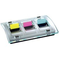 Devidoire millenium 3x50 index Post-it - format 25.4x44mm - couleur néon