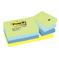 Post-it mint 38x51mm couleur neon - Lot de 12