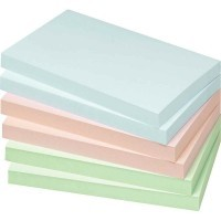 Bloc note repositionnable 76x127mm coloris pastel - Lot de 12