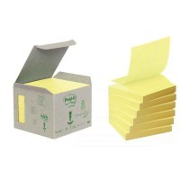 Post-it z-note recyclee 76x76mm jaune - Lot de 6