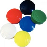 Punaise magnetique d22 coloris assortis - Blister de 6