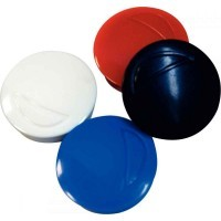Punaise magnetique d32 coloris assortis - Blister de 4