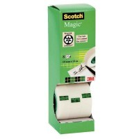 Tour distributrice de 8 rouleaux Scotch magic 19x33m