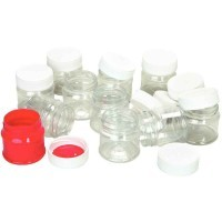 Pots de 50ml en PET, transparent - Lot de 12