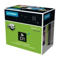 Ruban Dymo 9 mm x 7 m, impression Noire, support Bleu