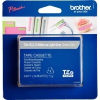 Recharge Brother Tze gris clair/blanc 12mm ( TZE-MQL35 )