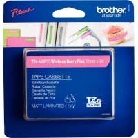 Recharge Brother Tze rose mat/blanc 12mm  ( TZE-MQP35 )