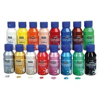 Carton de 16 flacons de 150ml de gouache brillante Brillo
