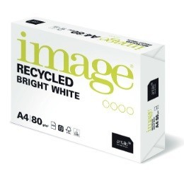 Ramette Papier 100% Recyclé Image Recycled Bright White A4 80G extra blanc - 500 Feuilles