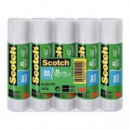 "Bâtons de colle ""Scotch"" 21G, colle blanche - Lot de 5"