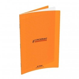 Cahier piqure 96 pages 24x32 cm, seyes 90g, couverture polypropylene: Orange