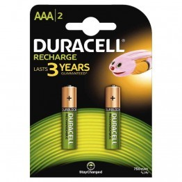 Pile rechargeable DURACELL HR03/AAA 750A PLUS POWER - blister de 2