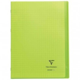 Koverbook - Cahier Clairefontaine - piqure 21x29.7 - 96 pages - seyes 90g - Couverture en polypropylene vert