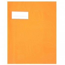 Protege cahier pvc 18/100 17x22 orange