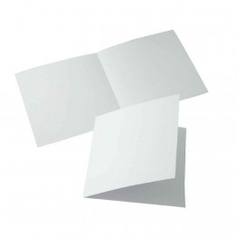 Carte double 160x160 blanc - Paquet de 25