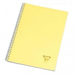 Cahier spirales Clairefontaine grand carreaux A4 180p linicolor