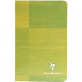 Carnet piqures Clairefontaine 11x17 grand carreaux 90g 96p