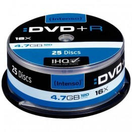 DVD+R 4,7Go 16x Intenso - Spindle de 25