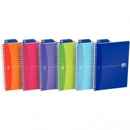 Cahier spirales petit carreaux couverture polypropylene colours 180p 90g