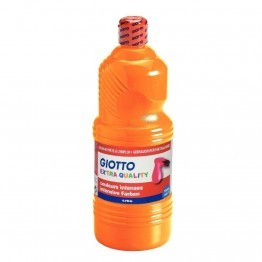 Gouache liquide orange Giotto - flacon de 1 litre