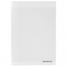 Cahier piqures grand carreaux polypropylene 24x32 96p 90g incolore