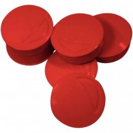 Punaise magnetique d22 coloris rouge - Blister de 6