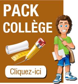 Pack de fournitures pour le collège