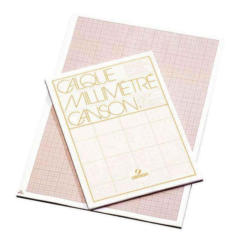 Papier Canson Calque Millimetre 70g A4 Bloc De 50 Vente De Papier Calque La Centrale Du Bureau