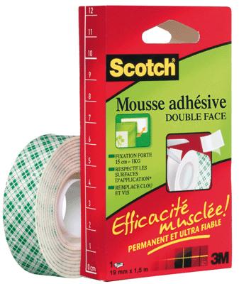 Rouleau scotch fixation 1 5m 19mm vente de ruban adh sif - Comment enlever du scotch double face ...