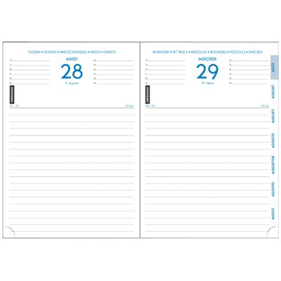 Super Agenda Exacompta journalier 1j/p winner 170X120 noir | Vente d  MT24