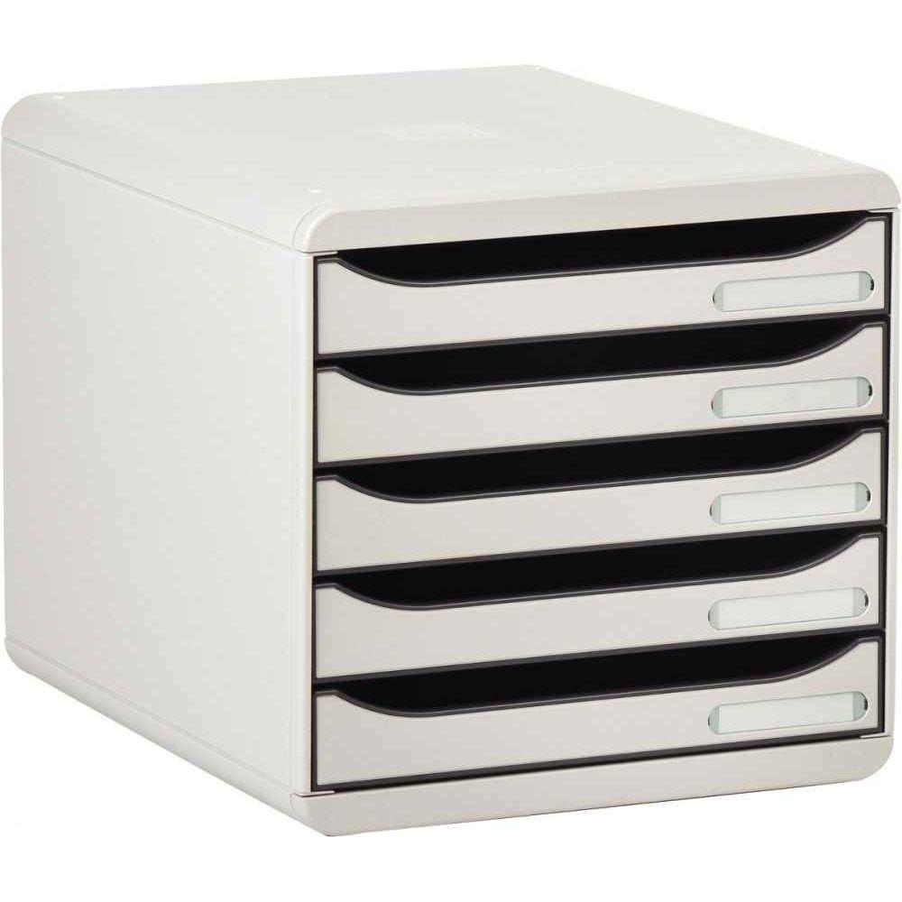 2954b6f85944e Module 5 tiroirs big box plus gris lumière