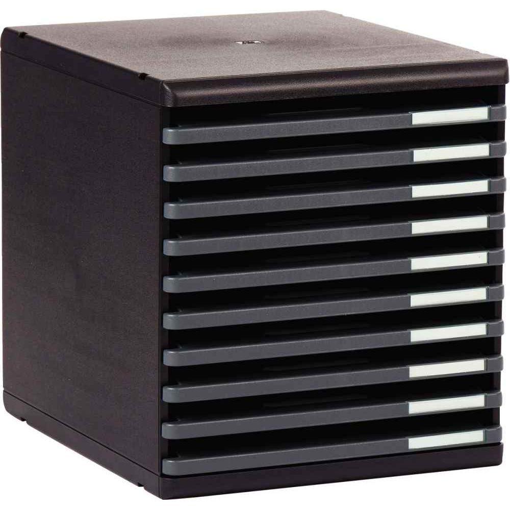 db036e13da49c Module 10 tiroirs ouvert Modulo rc noir