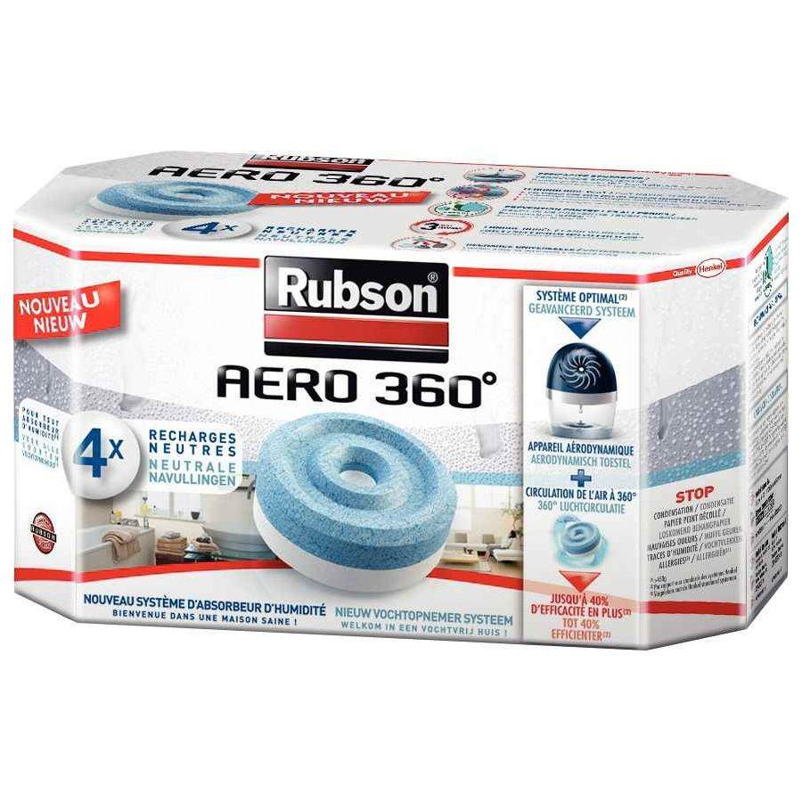 4 recharges pour l'absorbeur humidité