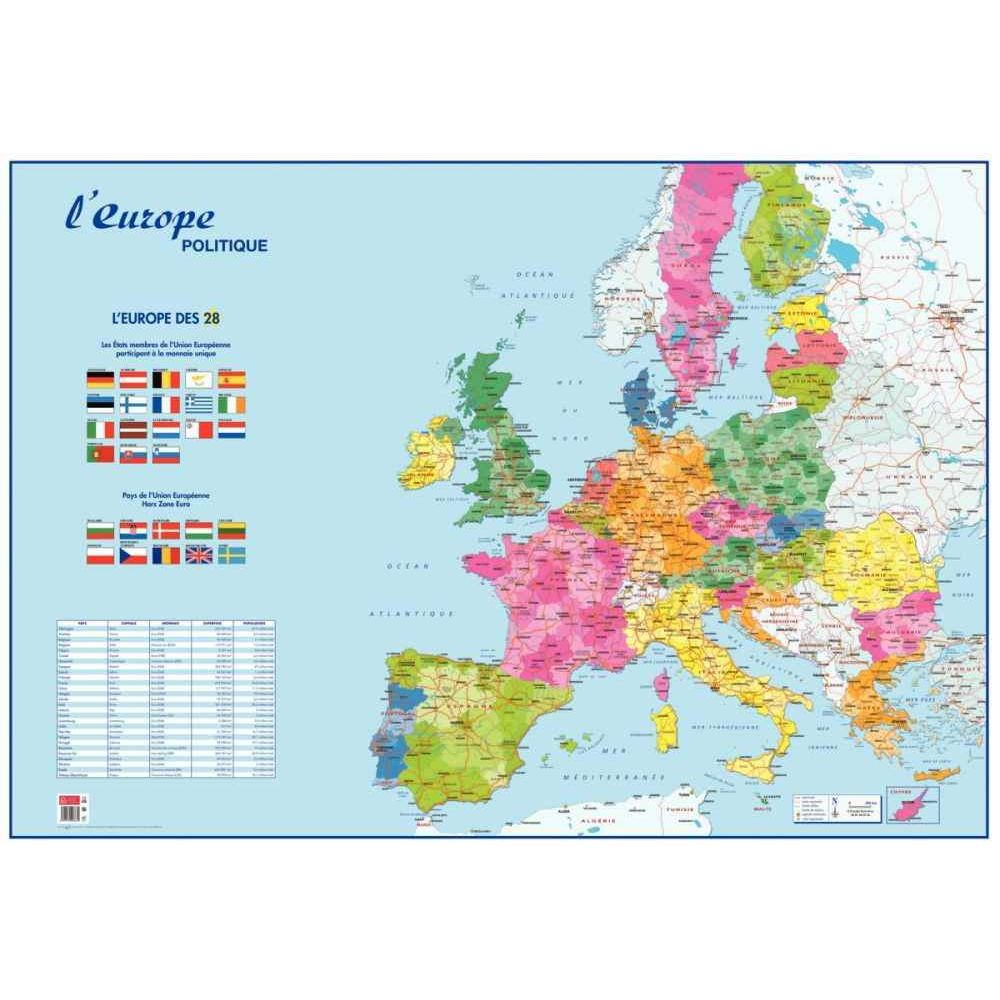 Carte souple : l'Europe & le Monde Politique, N.c | Vente de Carte