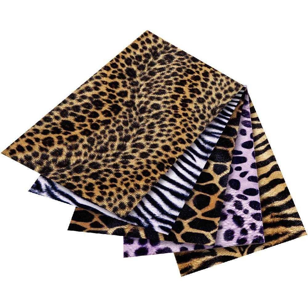 Feuilles tissu pelage safari adh sif format 50 x 70 cm for Bureau 70 x 50