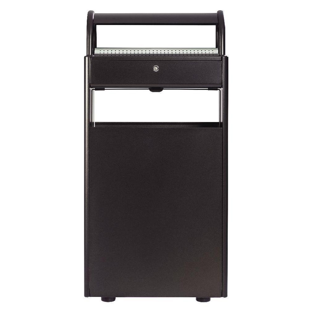 cendrier 12 litres et corbeille 60 litres sur pied. Black Bedroom Furniture Sets. Home Design Ideas
