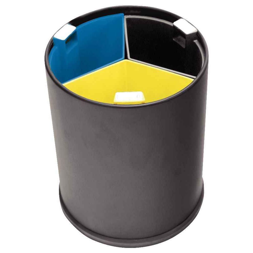 corbeille tri slectif 3 bacs 13 litres - Poubelle Tri Selectif 3 Bacs
