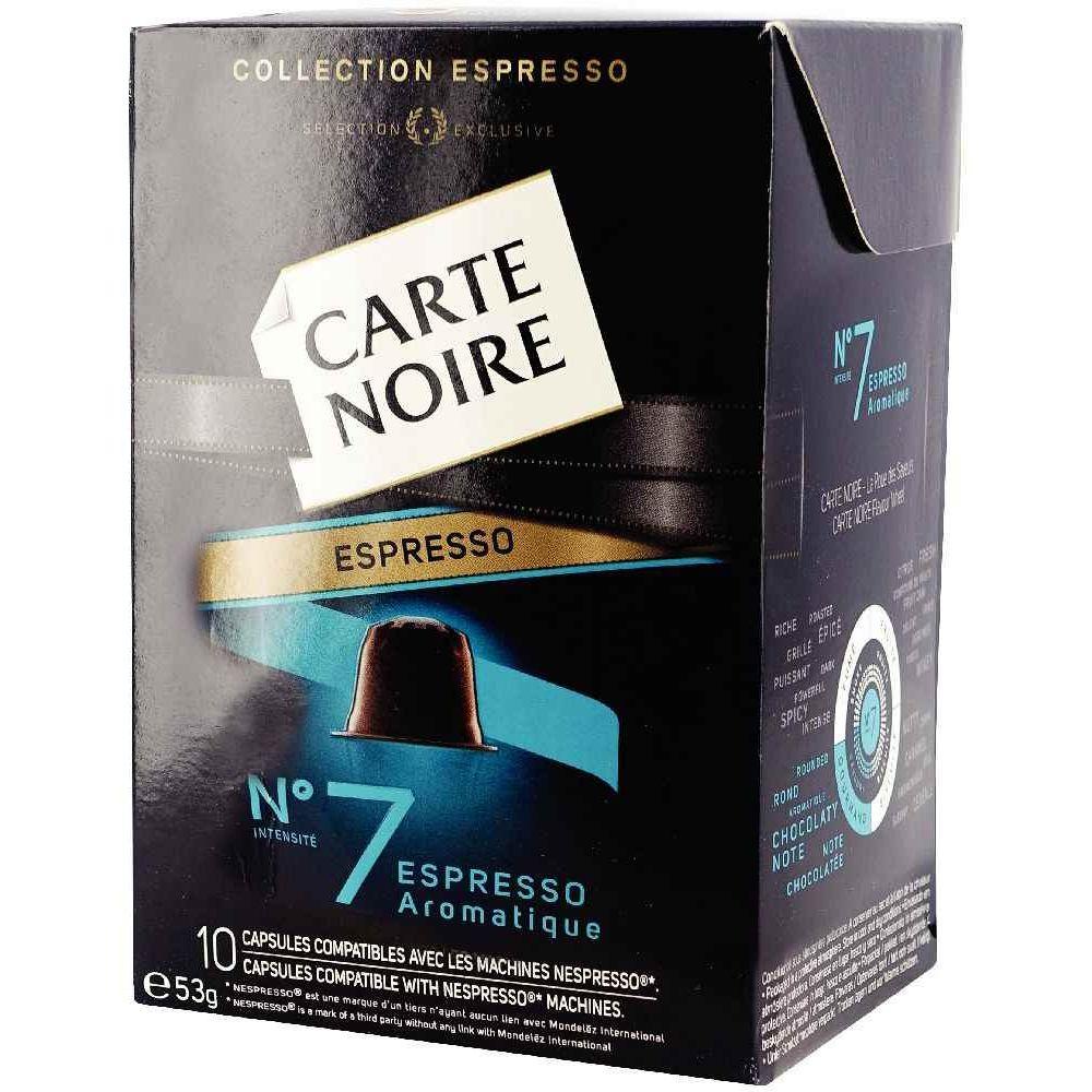 carte noire nespresso n 7 boite 10 capsules vente de. Black Bedroom Furniture Sets. Home Design Ideas