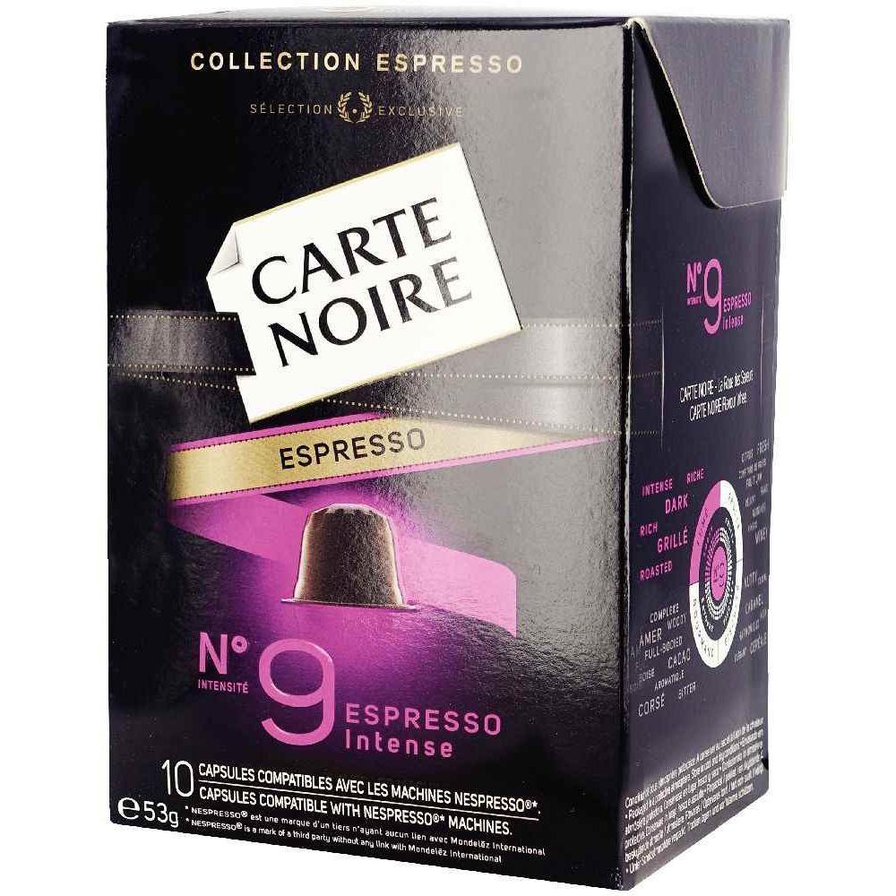 carte noire nespresso n 9 boite 10 capsules vente de boisson chaude la centrale du bureau. Black Bedroom Furniture Sets. Home Design Ideas