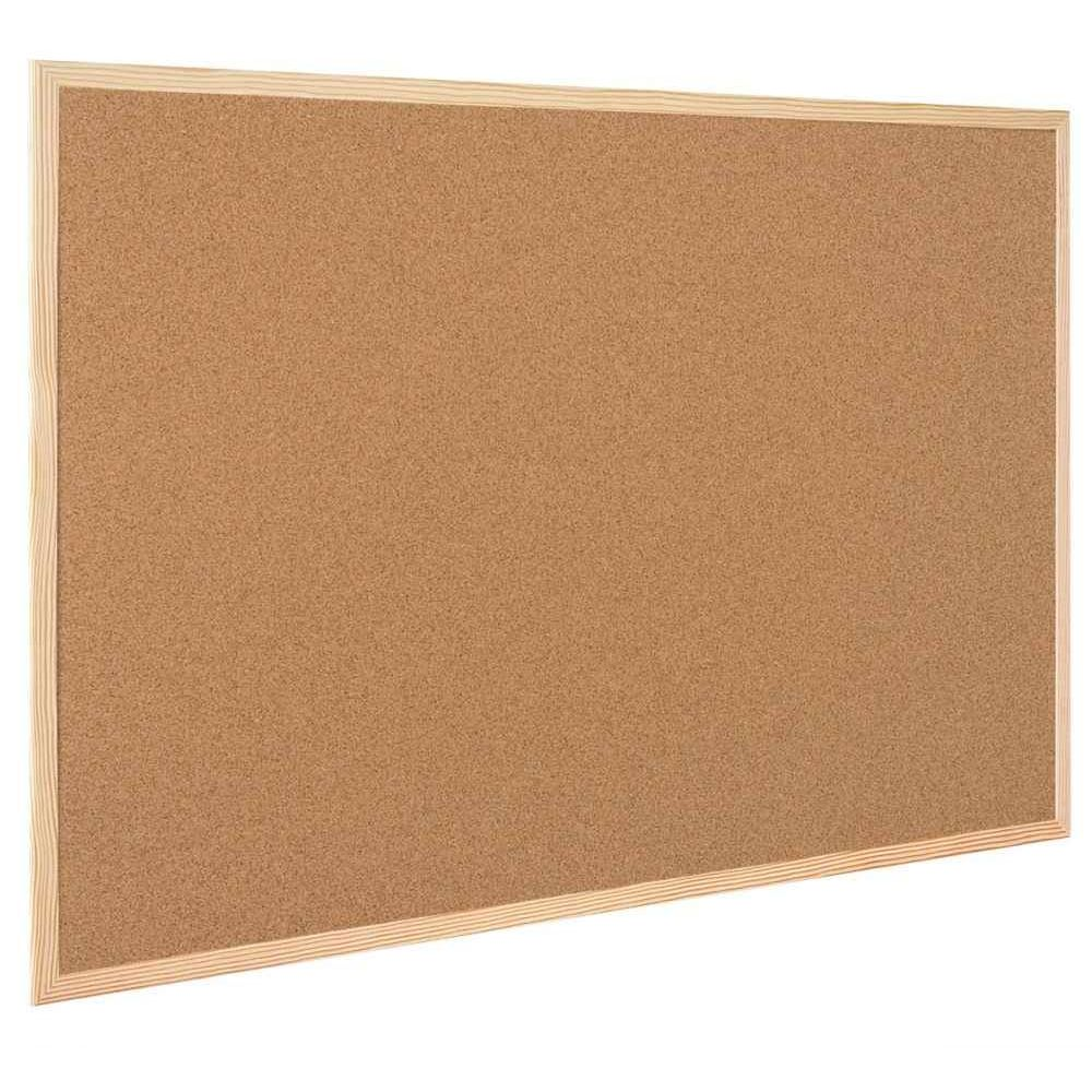 Tableau liège avec cadre en bois 30x30 cm, Bi-office | Vente de ... - Panneau En Liège