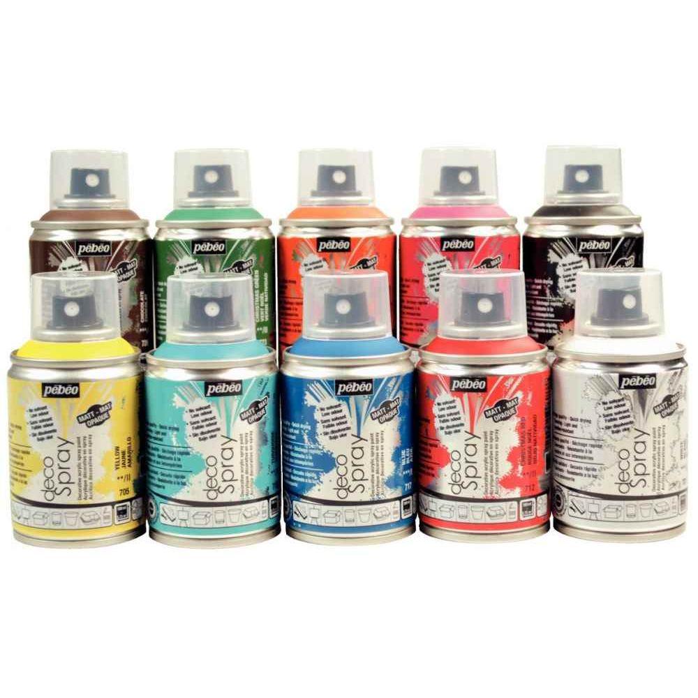 Peinture Acrylique En Spray 100ml Lot De 10 Pebeo Vente De
