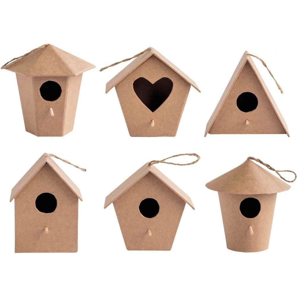 nichoirs oiseaux en carton pais lot de 6 n c vente d 39 objet en carton d corer la. Black Bedroom Furniture Sets. Home Design Ideas