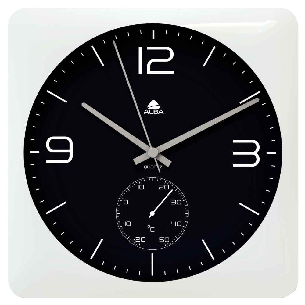 horloge murale carr e 30x30cm alba vente de horloge de. Black Bedroom Furniture Sets. Home Design Ideas