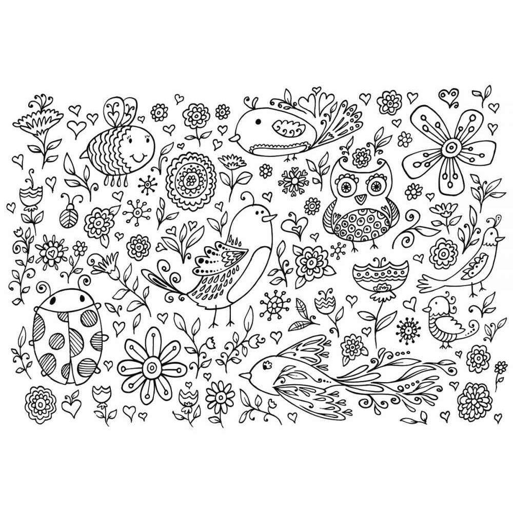 Coloriage Geant Theme Champetre Format 70x100 Cm Lot De 5 Vente De Papier A Peindre La Centrale Du Bureau