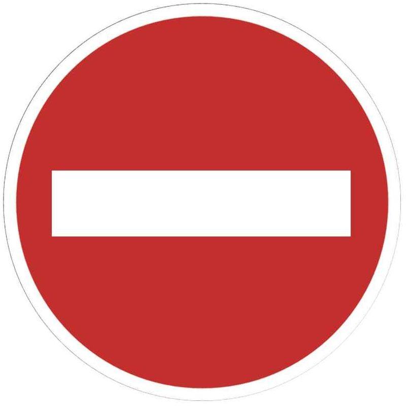 Panneau Signaletique En Pvc Rond Adhesif Sens Interdit N C Vente De Plaque De Signalisation La Centrale Du Bureau