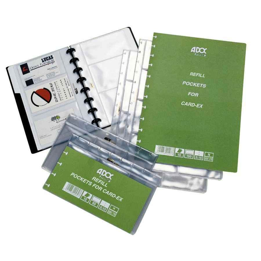 Recharge pour carte de visite card ex paquet de 10 adoc - Porte carte de visite de bureau ...