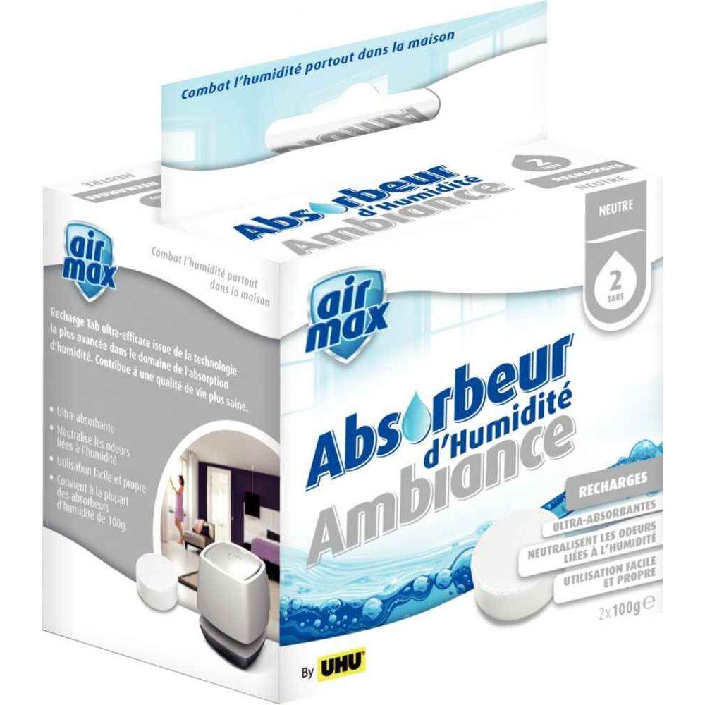 recharge airmax pour absorbeur d 39 humidit 2x100g uhu. Black Bedroom Furniture Sets. Home Design Ideas