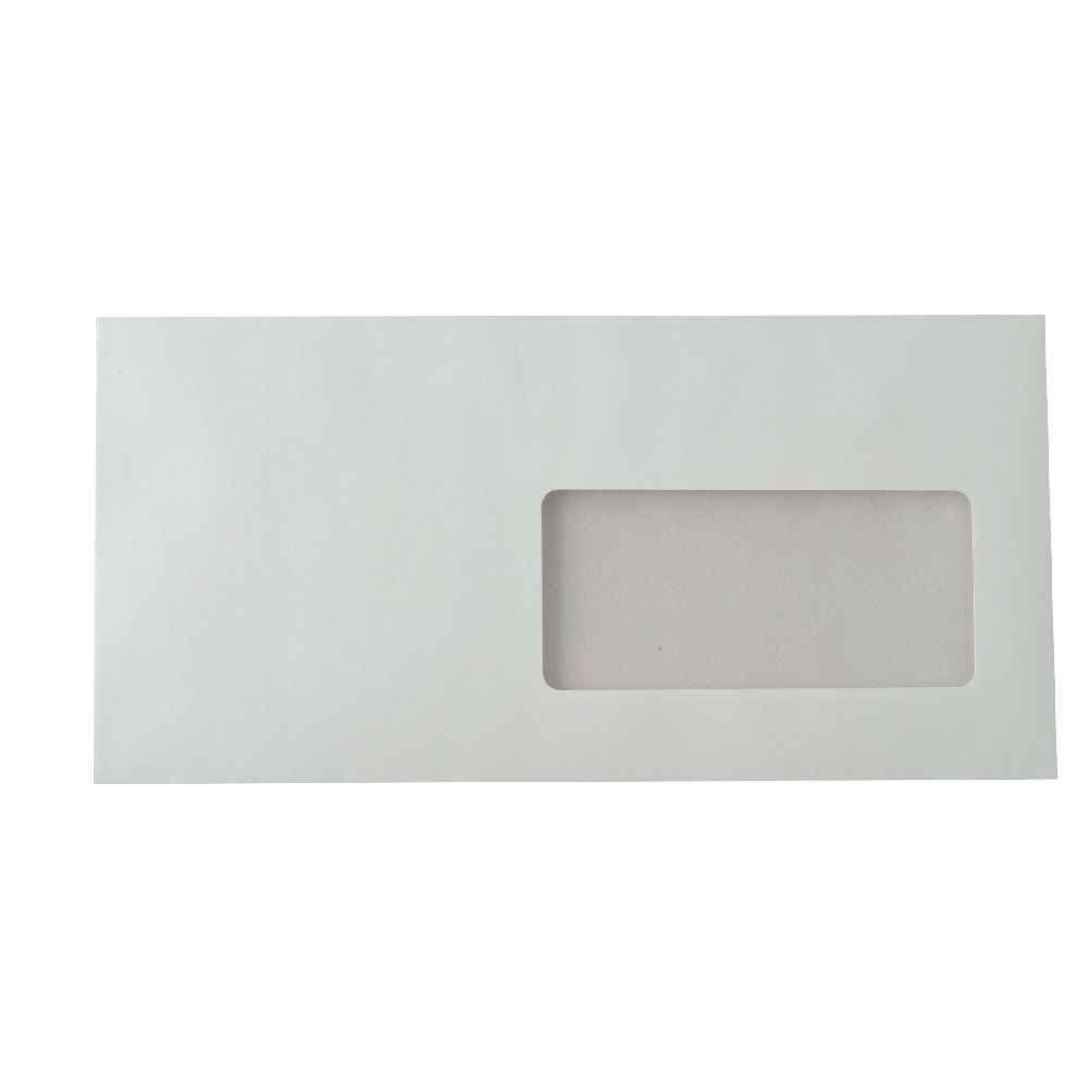 Enveloppe La Couronne Blanche Dl 110x220 Fenêtre 45 Vélin 90g Bande