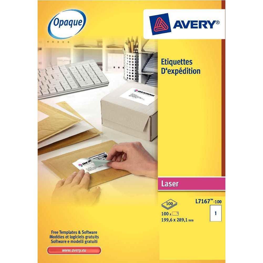 Etiquette laser Avery 99,1x67,7 - boite de 800. Boîte de 800 étiquettes spécifiques laser blanches, format 99,1 x 67,7 mm.É