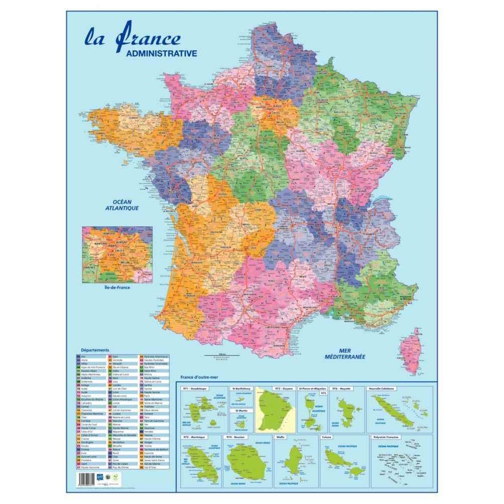 Carte souple murale france departement, Safetool | Vente ...